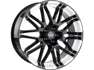 Oxigin 14 Oxrock black foil white 8.5x19 ET35 - LK5/112 ML72.6